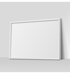 White horizontal frame for paintings vector