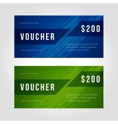 Voucher template abstract gepmetric design vector image