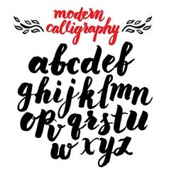 Calligraphy alphabet 2 vector image