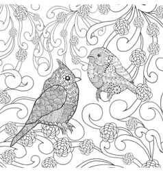 Birds coloring page vector
