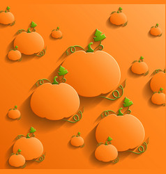 Abstract Background with Pumpkins vector image