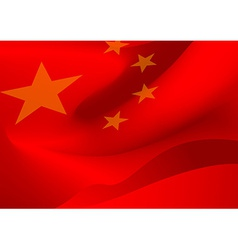 Abstract chinese red flag background vector