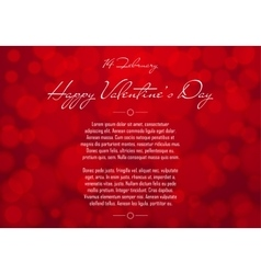 Abstract Red Blurred Valentines Day Background vector image