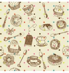 Afternoon tea vector