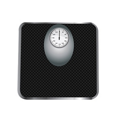 Black floor scales vector image