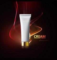 Cosmetics mockup for branding vector