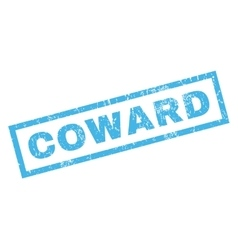 Coward rubber stamp vector
