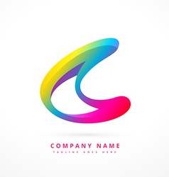creative colorful logo template design vector image