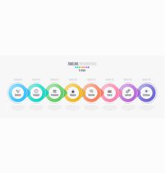 eight steps infographic timeline presentation vector image vector image