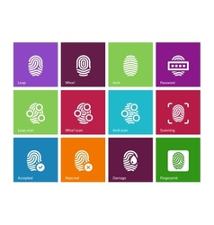 Finger access icons on color background vector