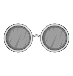 Glasses with black round lenses icon vector image