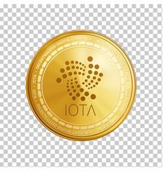 Golden ethereum blockchain coin symbol vector