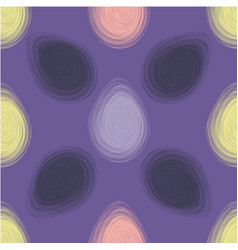 happy easter ultra violet seamless pattern vector image vector image
