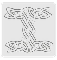 icon with celtic art and ethnic ornaments vector image vector image