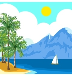Idyllic sunny seascape vector image vector image