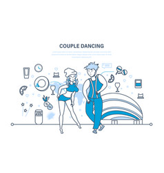modern popular dances with rhythmic movements vector image