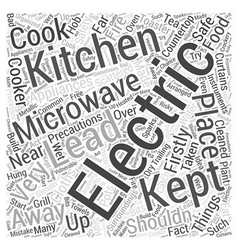 Safety precautions to be taken while cooking word vector