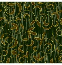 seamless floral damask pattern background vector image