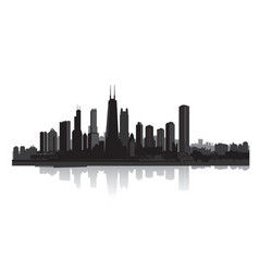 Skyline city view cityscape silhouette urban vector