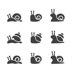Snail icon set vector