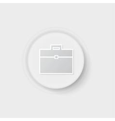 suitcase button vector image