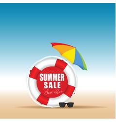 Summer sale in live saver color design vector