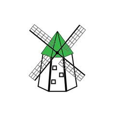 windmill emblem vector image