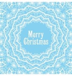 Winter background in beautiful mandala snowflake vector image