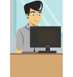 working man vector image