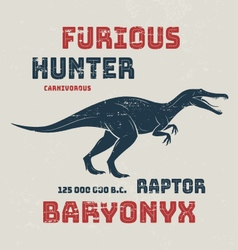 Baryonyx t-shirt design print typography label vector