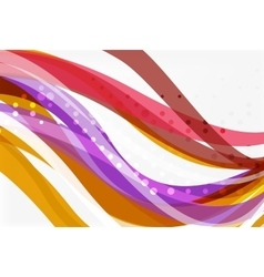 Colorful wave stripes and lines vector image