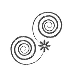 Drawing decorate swirl ornate style vector