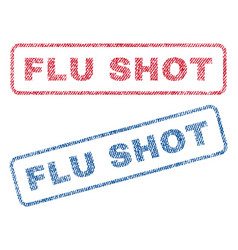 Flu shot textile stamps vector
