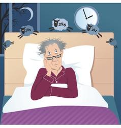 Insomniac man vector
