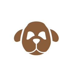 dog head symbol silhouette vector image