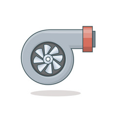 Car turbine icon vector
