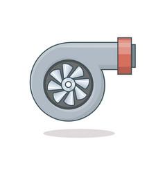 car turbine icon vector image
