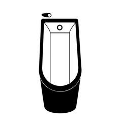Monochrome silhouette of bathtub in top view vector