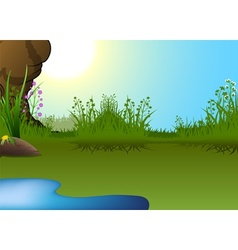 Little Pond vector image