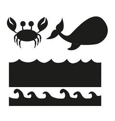 animals silhouette vector image
