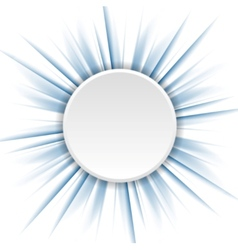 Blue beams and white circle vector