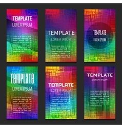 Set of colorful templates vector