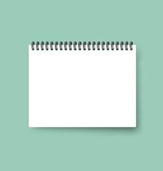Realistic notebook calendar template blank cover vector