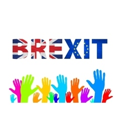 Brexit Text Isolated colorfull hand vector image