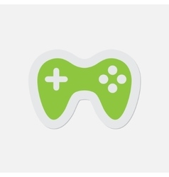 Simple green icon - gamepad vector