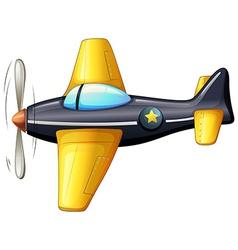 A vintage aircraft vector image