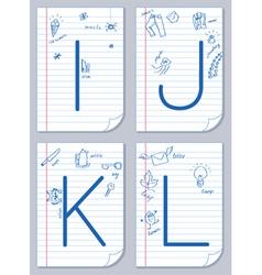 alphabet sketch vector image