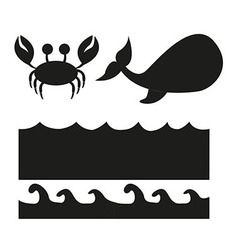 animals silhouette vector image