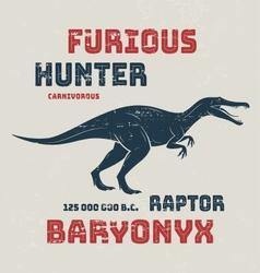 Baryonyx t-shirt design print typography label vector