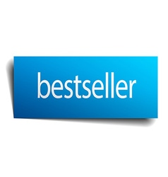 bestseller blue square isolated paper sign on vector image